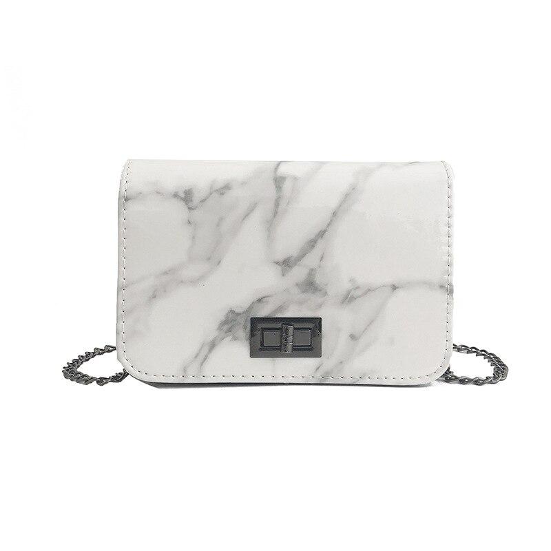 LISM Bags For Women 2019 Marble Pattern Shoulder Bag Lock Buckle Wild Messenger Small Square Marble White Bag Designer Handbags