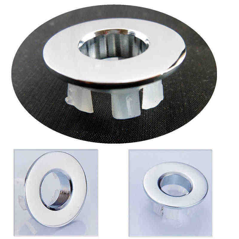 Spilled Sink Water Ring Overflow Rings Sink Round Ring Overflow Spare Cover Ceramic Basin 1PC Plastic Trim Bathroom Supplies