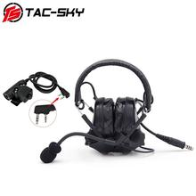 TAC-SKY COMTAC III silicone earmuffs tactical peltor comtac noise reduction pickup military walkie-talkie headsets and   u94 ptt