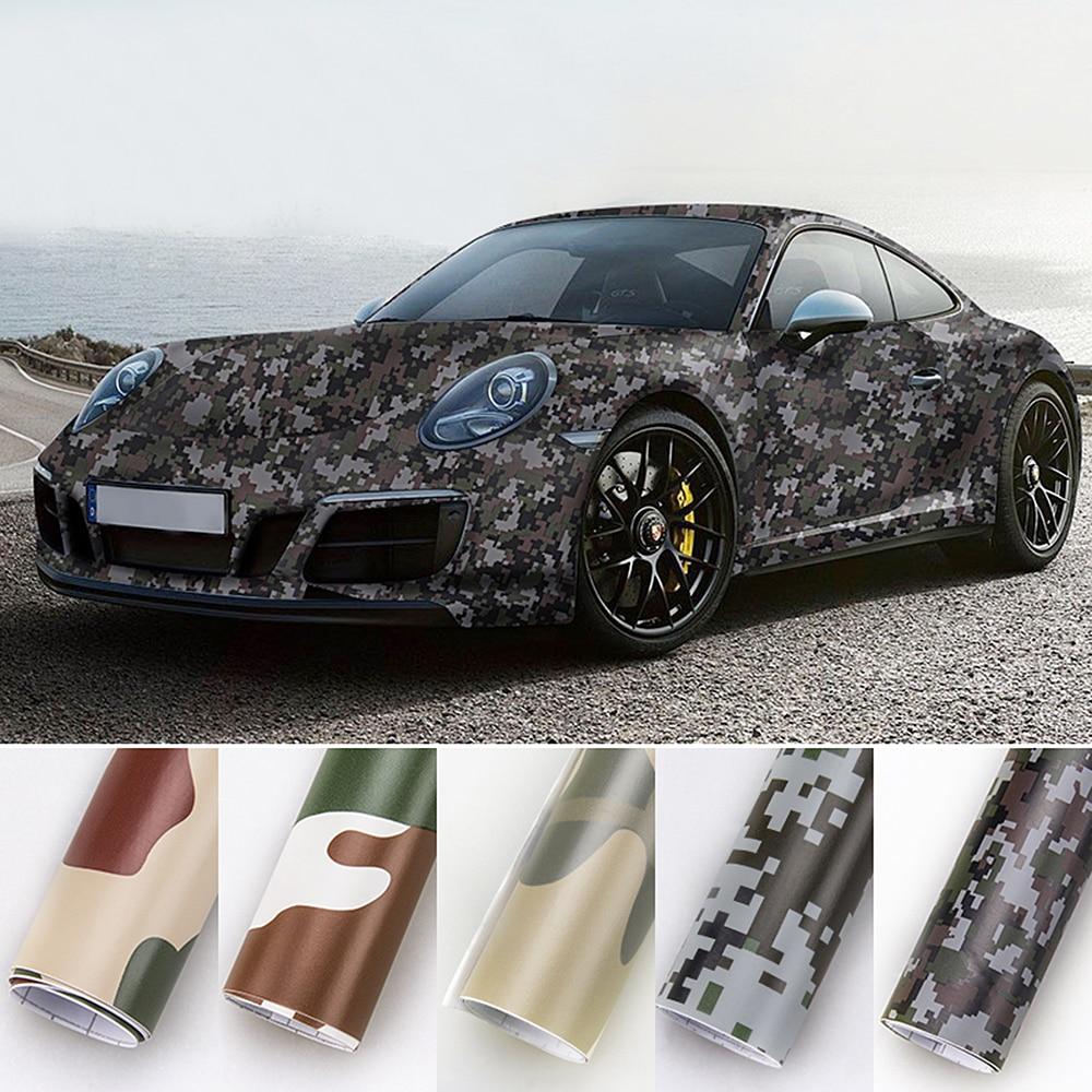 New 20cm*152cm Vinyl PVC 3D  Auto Decors Camouflage Car Stickers Car Wrap Film Digital Woodland Green Desert Camo Car Styling