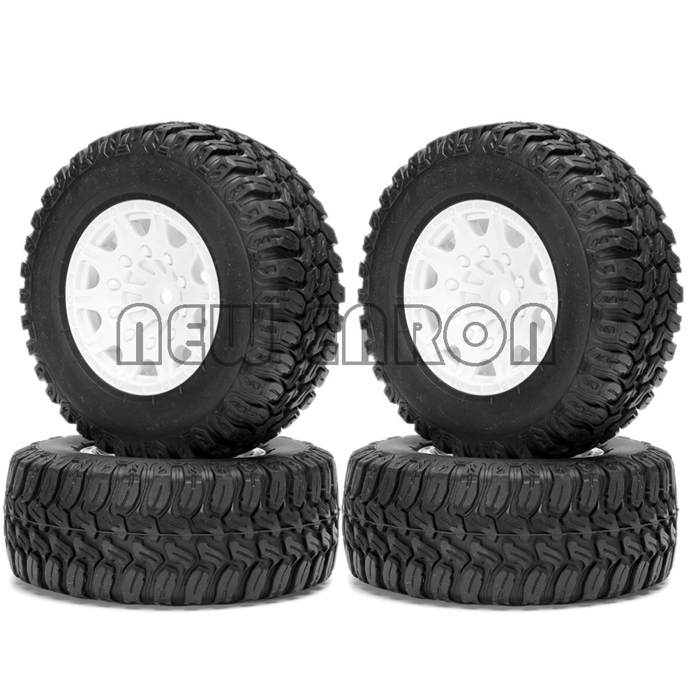 Nouveau ENRON jante de roue en plastique et 110MM pneus pneu camion de Course courte pour 1/10 RC camion de Course courte Traxxas Slash HPI