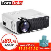 Projecteur TORA dole Android 7.1OS. Meilleur projecteur LED HD. Mini Home Cinema, 1280x720 résolution 1080P Beamer portable 3D TD01