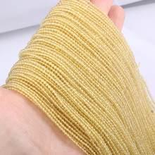 Grânulos de pedra natural pequena seção grânulo citrinos 2 3 mm grânulos soltos para fazer jóias diy pulseira colar comprimento 38cm