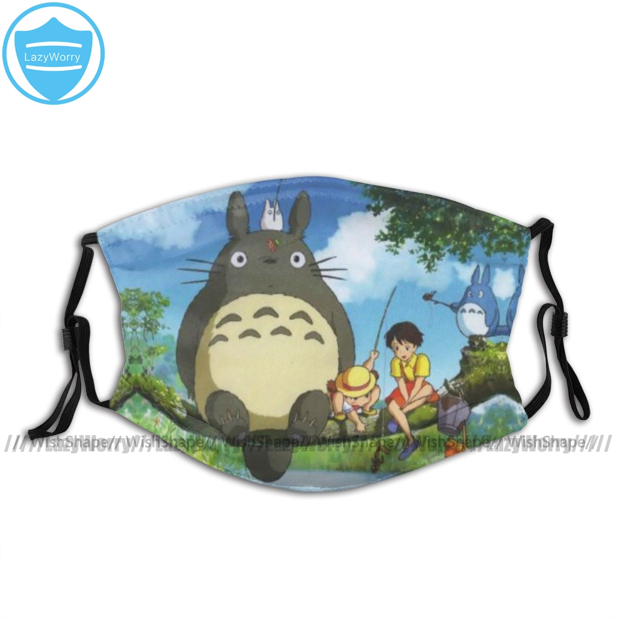 Ghibli Mouth Face Mask Totoro Facial Mask Fashion Funny With 2 Filters For Adult