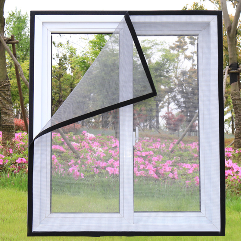 Inset Window Screen Mesh, Air Tulle Adjustable Summer Invisible Anti-Mosquito net Fiberglass Removable Washable Customize Screen 4