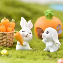 rabbit Figurine Miniatures Home kawaii room decor Garden Decor Easter decoration