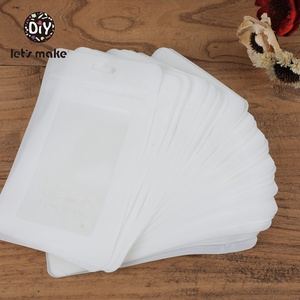 Image 3 - Lets Make Plastic Bags White 100pcs 19.5x11.5cm Display Bags BPA Free Baby Silicone Beads Package Jewelry Pendant Bags Teether