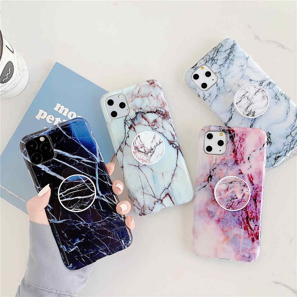 Мраморная Подставка для телефона, чехол для iphone 11 Pro X XR XS Max 7 8 6 6S Plus SE 2020, силиконовый мягкий ТПУ чехол для задней панели