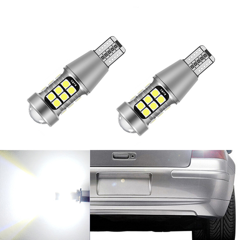 2pcs <font><b>T15</b></font> W16W <font><b>LED</b></font> <font><b>CANBUS</b></font> 3030 Chip High Power Backup Reverse Light For Volkswagen Tiguan Sharan Scirocco Skoda Superb image