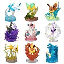 Pokemon 7-9cm Eevee Jolteon Glaceon Leafeon Vulpix Sylveon Espeon Flareon Vaporeon Growlithe Anime Action Figure Dolls Toy