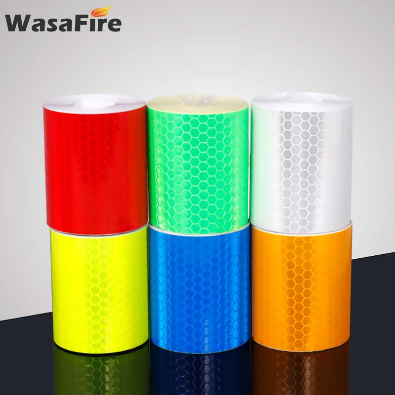 100*5cm Reflective Bicycle Sticker Bike Wheel Spokes Adhesive Tape Safety Stickers Cycling Accessories