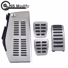 NS Modify Car Stainless Steel Pad Foot Rest For Volkswagen Polo VW Golf 4 Bora Beetle RSi GTI R32 For Audi A3 SEAT Pedal Pad 100% new n10p ns a3 n10p ns a3 bga chipset