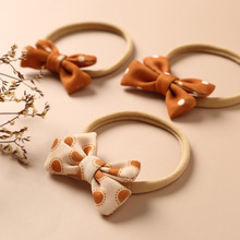 Ins Baby Bows Headbands Girls Vintage Hair Accessories For Newborn Thin Nylon Turban Traceless Infant Cute Hairband New Trand