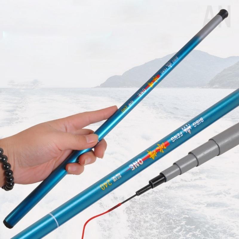 Portable Telescopic Rod Ultra-light Hand Glass Fiber Pole Hand Fishing Rod Fishing Pole Fishing Tackle 1.8/2.1/2.4/2.7/3.0/3.6M