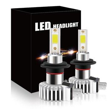 Bombilla led frontal para coche, luz de 100W, h7, H3, H8, HB3,...