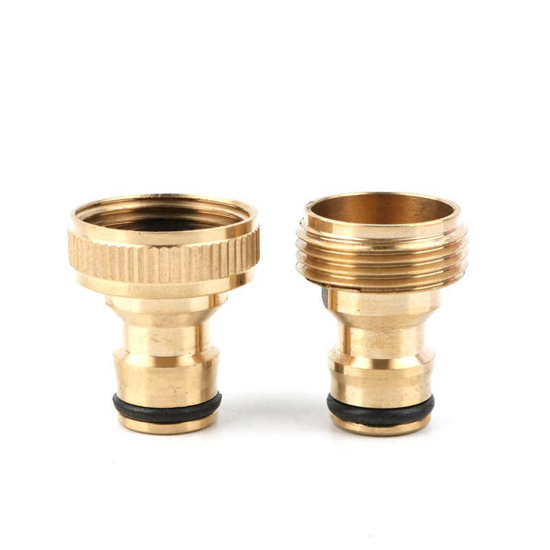 Brass Male Quick Connector Adaptor Garden Water Hose Pipe Tap Connector