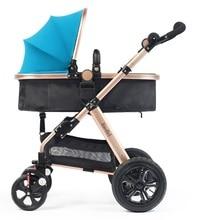 High Landscape Fold Baby Stroller ,3 Modes Two-way Pram, Air