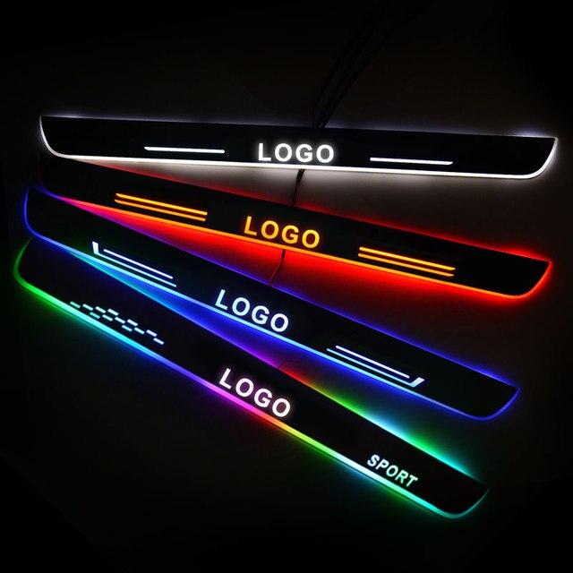 LED ประตูรถสำหรับ BMW i3 I01 2013   2019 ประตู Scuff แผ่น Pathway เหยียบยินดีต้อนรับรถอุปกรณ์เสริม