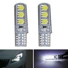 цена на 2pcs t10 led w5w in signal lamp car LED light 12V 5050 6 SMD white  Silicone 194 168 501 Auto Trunk Lights Interior Reading Bulb