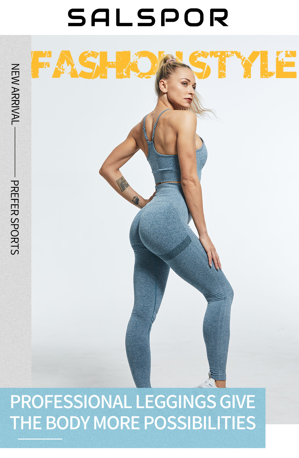 SALSPOR Women High Waist Leggings For Fitness Ladies Sexy Bubble Butt Gym Sports Workout Leggings Push Up Fitness Female Leggins