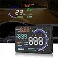 Универсальный A8 5 5 дюймов Автомобильный HUD Head Up Display OBDII предупреждение скорости расход топлива Автомобильная сигнализация