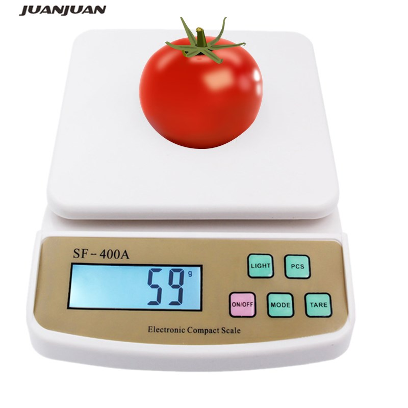 10 kg / 1 g libra balanzas digitales de cocina contando pesaje balanza electrónica balanza joyería gramo peso de medición de alimentos SF-400A 15%