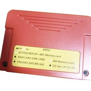 Image 4 - Nieuwe All In 1 Voor Sega Saturn Ss Cartriage Action Replay Kaart Met Direct Lezen 4M gaspedaal Functie 8Mb Geheugen