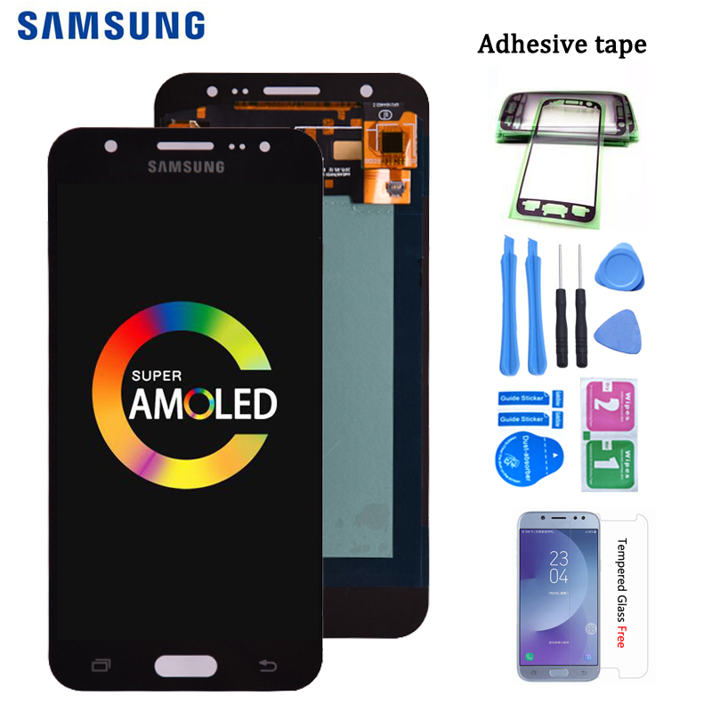 Original <font><b>AMOLED</b></font> Replacement parts For Samsung Galaxy J5 2015 <font><b>J500</b></font> J500G J500Y J500M J500H LCD Touch Screen Digitizer Assembly image