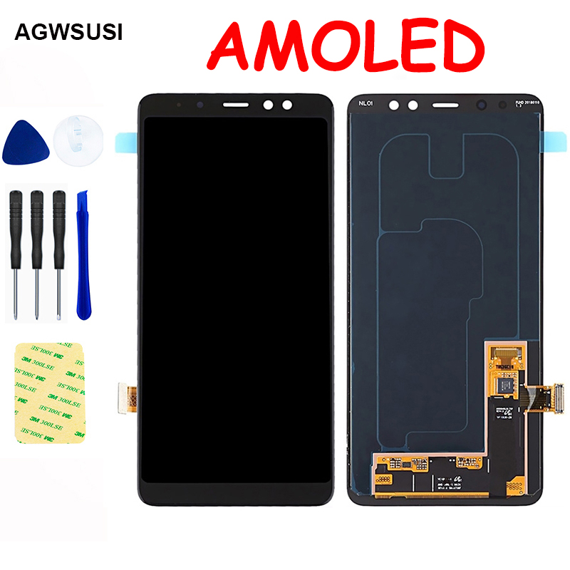 AMOLED For <font><b>SAMSUNG</b></font> Galaxy <font><b>A8</b></font> Plus 2018 LCD <font><b>Screen</b></font> A730 LCD <font><b>Display</b></font> Touch <font><b>Screen</b></font> Digitizer Sensor Assembly image