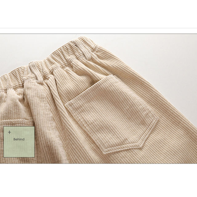 autumn winter Corduroy Pants women high waist pockets trousers women plus size 2019 streetwear Harem pants pantalon femme 6