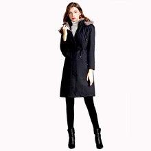 2019 winter womens coat Mink fur collar real rex rabbit liner genuine jacket parka