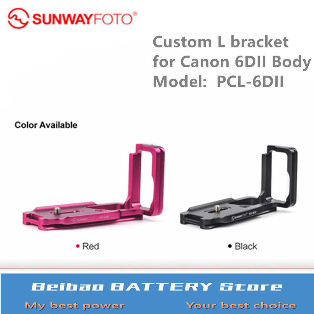 SUNWAYFOTO PCL-6DII Tripod Head Quick Release Plate For Canon EOS 6DII Camera 6D Mark II Dedicated L-bracket Specific Aluminum