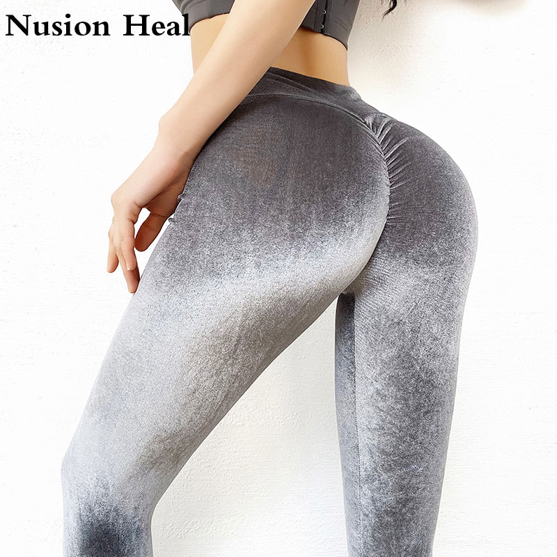 Womens Stretchy High Waisted Fitness Leggings Sports Pants Jogging Yoga Trouser