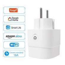 New WiFi Smart Home Sockets 16A EU Plug Tuya Smart Life APP Work with Alexa Google Home Smart-Home Automation EU UK US Plug
