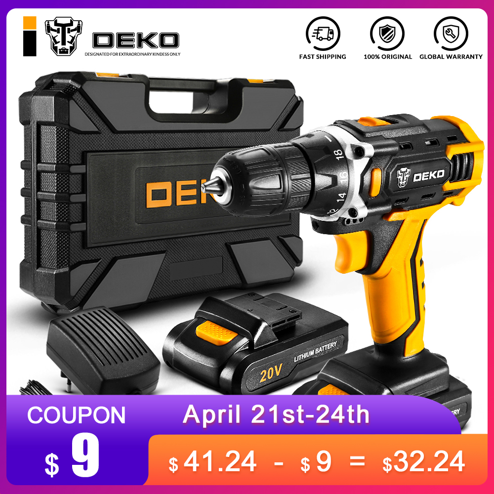DEKO Banger 20V Cordless Drill Electric Screwdriver Mini Wireless DC Lithium-Ion