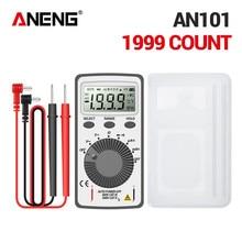 ANENG AN101 LCD poche numérique multimètre rétro-éclairage AC/DC automatique Portable voltmètre ampèremètre Ohm testeur outils de mesure