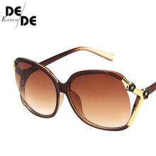 Hot Sale Retro Oversized Oval Sunglasses Women Luxury Brand Classic Vintage Camellia Ladies Glasses Shades goggles