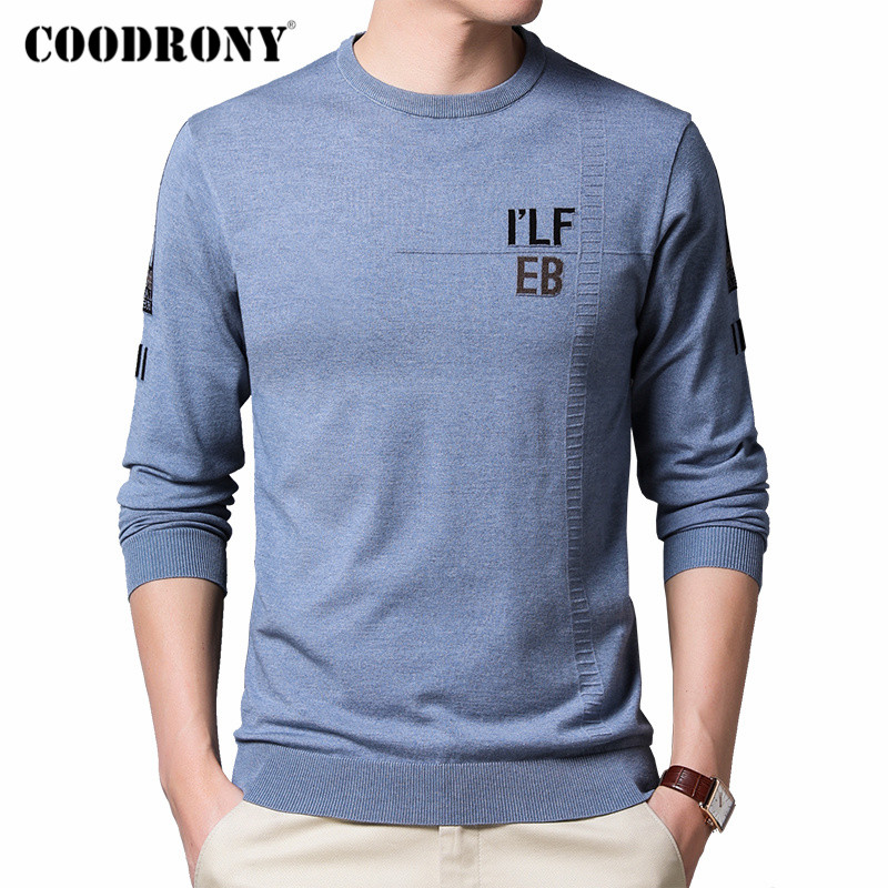 COODRONY Brand Sweater Men Spring Autumn New Arrival Cotton Knitwear Pullover Men Clothes Fashion Casual O-Neck Pull Homme C1033
