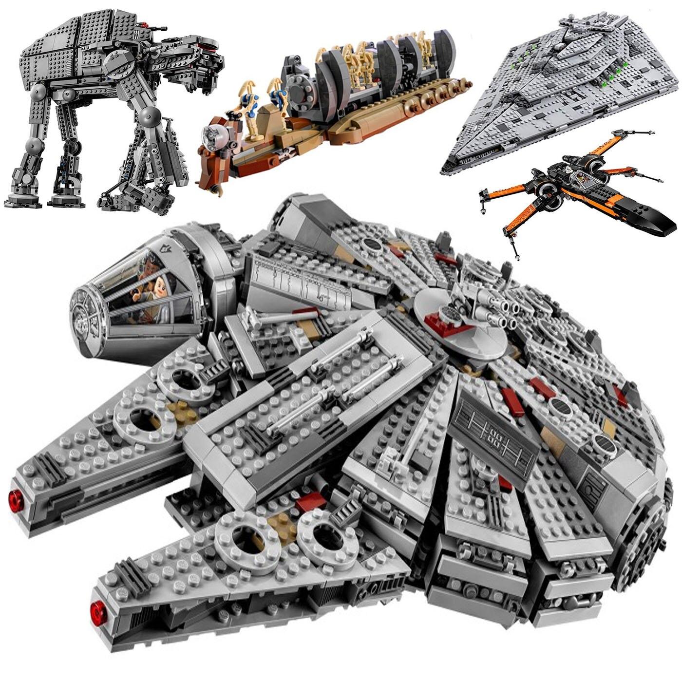 Nouvelle Star Tie Fighter microfighter Wars la montée de Skywalker avec des blocs de construction lepinblock StarWars 75257 jouets pour enfants