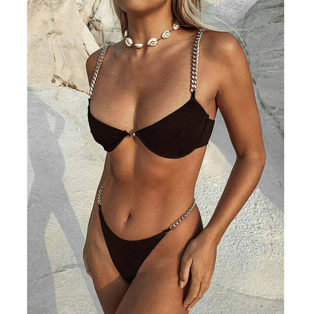 Chain Strapped Fashion Bikini Set 4