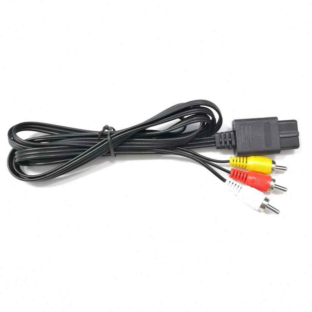 Untuk N64 SNES GameCube 6FT RCA AV TV Audio Video Kabel Stereo Kabel untuk Nintend 64 Dirancang Indah Tahan Lama Panas dijual