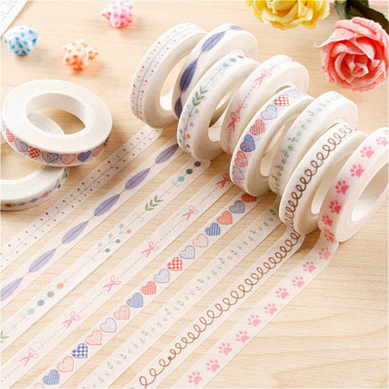 1PCS New Kawaii Washi Tape Scrapbooking DIY Label High-quality Lovely Pretty Sticker Masking Tape School Office Supply
