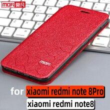 Flip case xiaomi redmi note 8pro kılıf redmi note 8 durumda standı deri kitap tpu mofi redmi note 8 pro geri fundas lüks coque