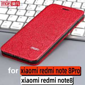 Image 1 - Flip מקרה עבור xiaomi redmi הערה 8pro מקרה redmi הערה 8 מקרה stand עור ספר tpu mofi redmi note8 פרו חזרה fundas יוקרה coque
