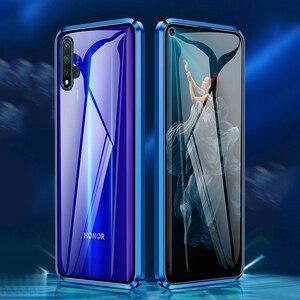 Стеклянный чехол для Huawei Nova 5T 7 Pro 7SE P40 Pro, чехол из магнитного металла, 360 закаленное стекло, чехол для Huawei Honor 20 Pro 30S