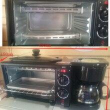 3-in-1 Breakfast Machine 600w coffee pot+750w Teppanyaki+750w oven Bread Baking Maker Bread Toaster /Fried Egg/ Coffee Cooker