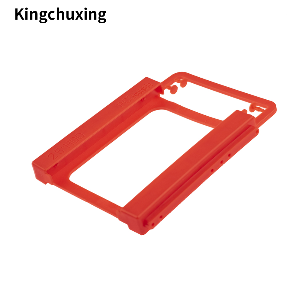 2.5 to <font><b>3.5</b></font> Inch <font><b>SSD</b></font> HHD Holder Mounting Plastic <font><b>Adapter</b></font> Bracket Hard Drive Disk Holder Case for Desktop PC by Kingchuxing image