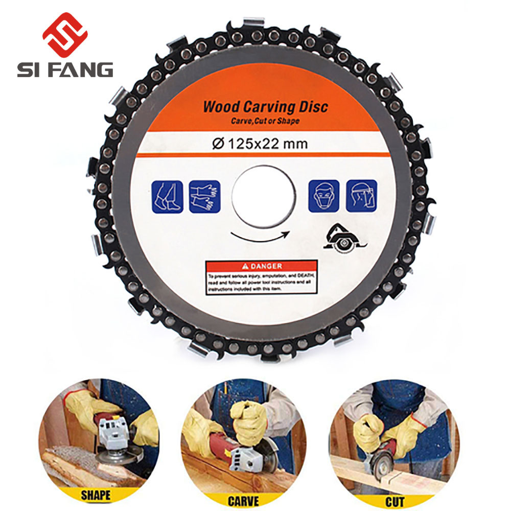 4.5 Inch Chain Saw Blade Grinder Disc And Chain 13000RPM  For Abrasive Cut Chain For 125x22mm Angle Grinder