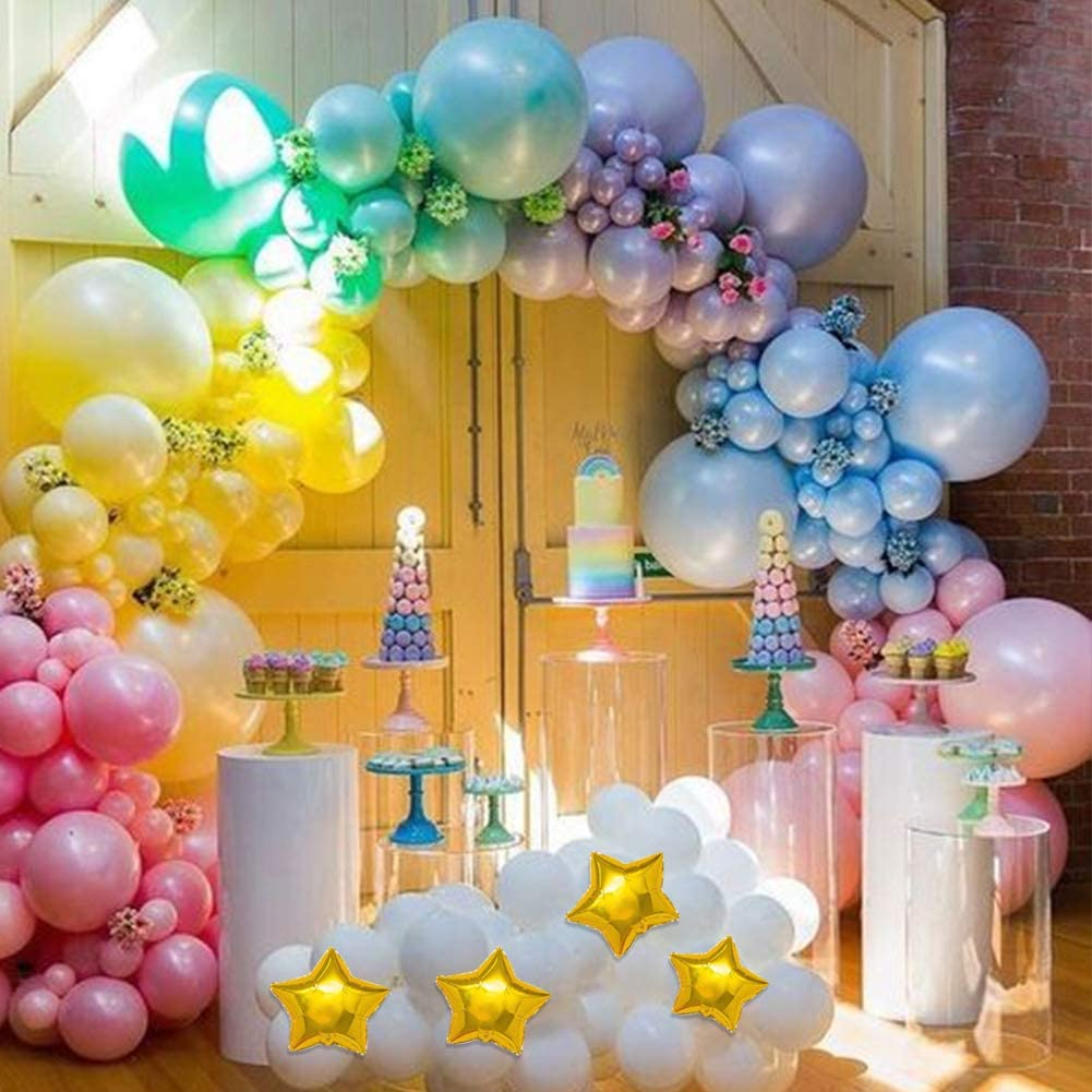 Rainbow Garland Arch Kit Macaron Pastel Balloons for Birthday Baby Bridal Shower Party Photo Booth Background Party Decorations