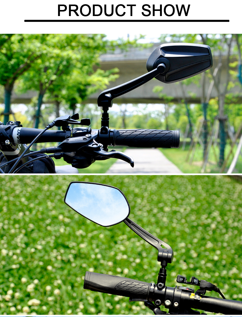 Bicycle Rearview Handlebar Mirrors 360 Degree Rotate Cycling Rear View MTB HD Reflecter  Bicycle Accessories